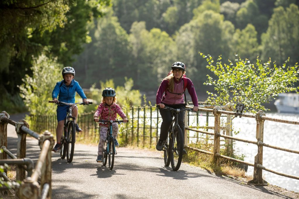 hire bikes and explore loch katrine